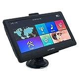Jimwey GPS Navi Navigation für Auto LKW PKW 7 Zoll 8GB 256MB Lebenslang Kostenloses Kartenupdate Navigationsgerät mit POI Blitzerwarnung Sprachführung Fahrspurassistent 2018 EU UK 58 Karten