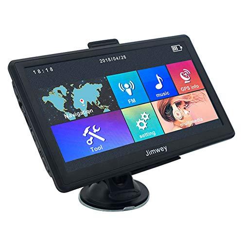 GPS Navi Navigation für Auto LKW PKW 7 Zoll 8GB 256MB Lebenslang Kostenloses Kartenupdate, Navigationsgerät mit POI Blitzerwarnungen Sprachführung Fahrspurassistent 2018 EU UK 58 Karten für Europa Traffic-Jimwey