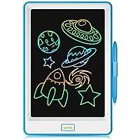 NEWYES Tablette d'Ecriture LCD 10 inch, Ecran Coloré, Bloc de Notes Electronique pour Enfant et Adulte (Bleu)