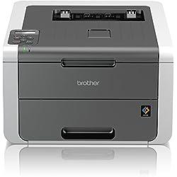 Brother HL-3142CW High-Speed Farblaserdrucker mit WLAN weiß/grau