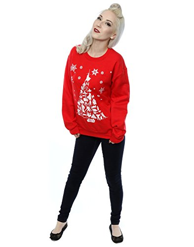 Star Wars Damen Christmas Tree Sweatshirt Rot