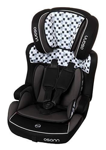 Osann Lupo Isofix, Kinderautositz Gruppe 1/2/3 (9-36 kg), Cube Black