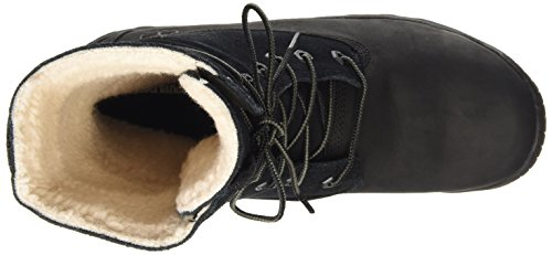 Timberland Woodhaven Fleece Rol, Scarpe a Collo Alto Donna Nero
