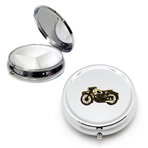 Preisvergleich Produktbild Norton Motorrad Silber rund Pillendose