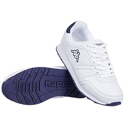 Kappa Freizeit Schuhe New Annes Unisex Sneaker Weiß-Marineblau