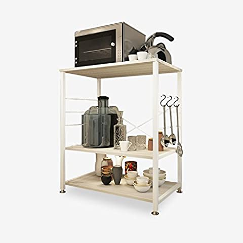 3-Tier Kitchen Baker's Rack Utility Support de four à micro-ondes Magasin de stockage étagère de poste de travail