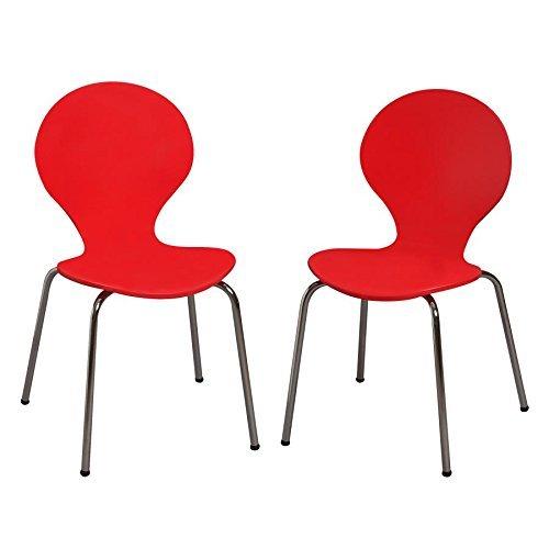 Kid 's Schreibtisch Stuhl (Set of 2) Farbe: rot -