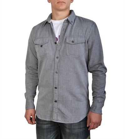 Globe da uomo truffa a maniche lunghe Globe shirt- Canna di fucile (Small)
