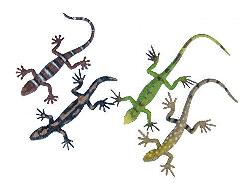 Miniblings 4er Set Salamander Aufstellfiguren Tierfigur Gummitier Eidechse Gecko