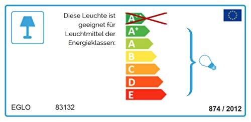 EGLO GRAFIK Wand-/Deckenleuchte, Stahl, E27, 60 W, weiss -