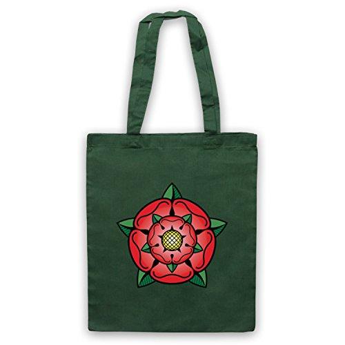 Tudor Rose British Regal Heraldic Symbol Umhangetaschen Dunkelgrun