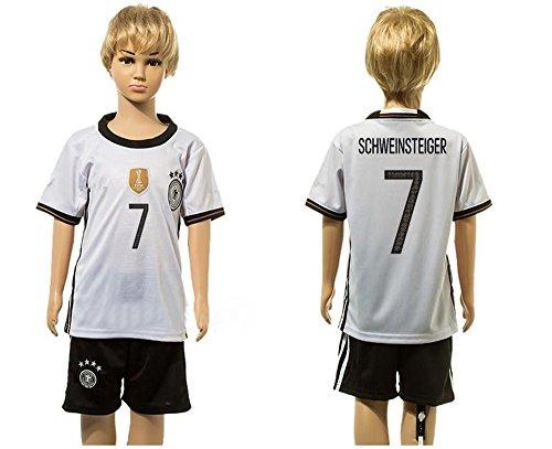 Generic 201620177Bastian Schweinsteiger Home Fußball Jersey für Kinder Kid Jugend in weiß Small weiß (Jersey Home Weiß Jugend)