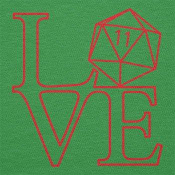 Texlab–RPG Love–sacchetto di stoffa Verde