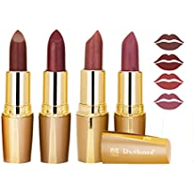 RythmX Creamy Matte Professional Lipsticks Combo Gold (Brown, Mahroon, Mauve, Mauve) Set of 4 (4 Grams /Pc)