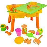 deAO SWT-C2 - Mesita Infantil cajón de arena y agua para actividades de verano