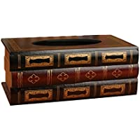 Somedays Caja de Pañuelos Estilo Europeo Vintage de Madera, Caja de Extracción de Papel para Manualidades, Gran Capacidad, Caja de Papel de Pañuelos