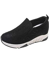 Femme Baskets Mode Strass Chaussures de Sports Marche Running Chaussures à  Plateforme 95a0e3030e59