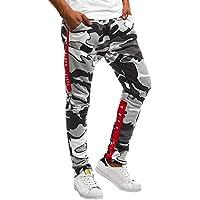 Cebbay Liquidación Pantalones de chándal para Hombres Pantalones Casuales Viento Urbano Bolsillo de Camuflaje Recto otoño e Invierno Transpirable cálido