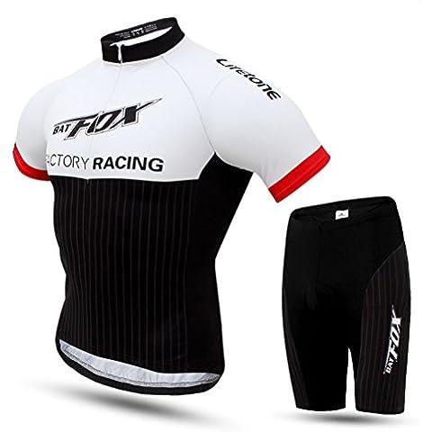 hebike tuta a maniche corte da uomo con cuscino 3d pantaloncini ciclismo Jersey e pantaloni Set, Hebike, F837, M=Height(5'6