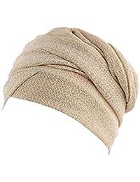 Cebbay Liquidación Gorros de Punto Tapa de Turbante Hembra Pañuelo de  Cabeza musulmán Africano Indio Abrigo de Invierno Sombrero de… b425adeedf7