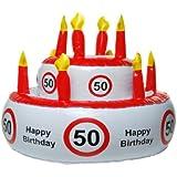 Aufblasbare Geburtstagstorte für versch. runde Geburtstage
