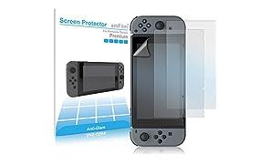 amFilm Nintendo Switch Screen Protector Anti Glare, Nintendo Switch Matte Screen Protector for Nintendo Switch 2017 (3-Pack)