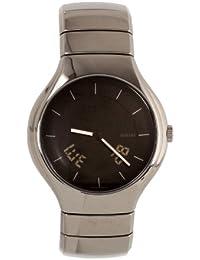 Rado True L - Reloj de cuarzo para hombre, con correa de cerámica, color negro