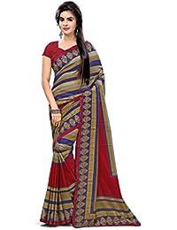 Miraan Women's Art Silk Saree With Blouse Piece (Vi3051,Multicolor,Free Size)