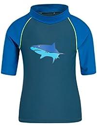 Mountain Warehouse Camiseta térmica estampada con manga corta para niños - Camiseta térmica con factor de protección solar UPF50+, top térmico de secado rápido
