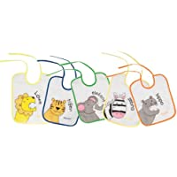 Playshoes 507145, Playshoes 25 X 20cm Tie Bibs Zoo Animals on the Back Foil Underlay (Pack of 5) (Baby Products)