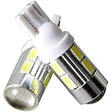 Guance T10 LED Parking Bulb or Pilot Light WHITE High Power Projector LED Set of 2pcs for Honda Amaze