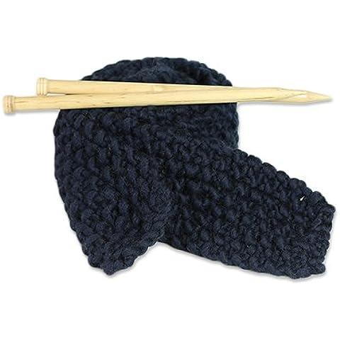 Kit maglia Principianti per maglia sciarpa grande lana blu in the (Navy Ago)