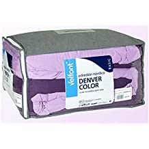 Velfont Edredon Nórdico Bi-color Denver Morado-Lila 180x270cm
