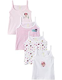 First Baby Girl's Minnie Vests (Pack Of 4)