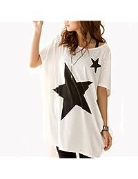 Keral Damen Casual Loose Rundhal Kurzarm T-Shirt