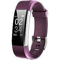 Willful Fitness Armband mit Pulsmesser,Wasserdicht IP67 Fitness Tracker Aktivitätstracker Pulsuhren Smartwatch Schrittzähler mit Vibrationsalarm Anruf SMS Whatsapp für iPhone Android Handy