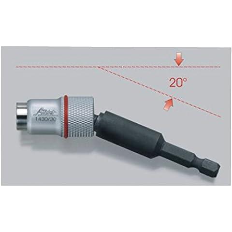 Profesional portapuntas magnético Destornillador ángulo de Bit Plana Bit halterug magnético para atornillador bola