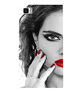 EPICCASE Lady with cool nailpaint Mobile Back Case Cover For Xiaomi Mi3 (Designer Case)