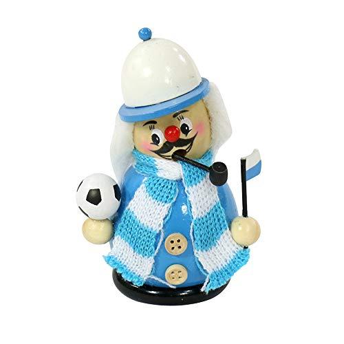 Dekohelden24 Räuchermann als Fussballer mit hellblau/weissem Outfit, ca. 12 cm
