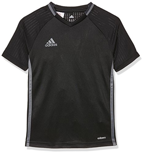 adidas Kinder Shirt Condivo 16 Training Jersey, Black/Dark Grey/Vista Grey, 152, S93538 (Jersey Hockey Jungen)