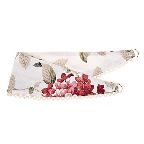 Homescapes Gardinen Raffhalter Vintage Rosen 66 cm Creme passend zu Vorhang Schals 2 Stück klassische Fertiggardinen blickdicht