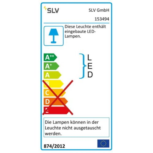 Slv - Luminaria carril euro spot led disk 800 gris/plata