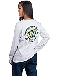 e803abd495844 Santa Cruz White Ringed Dot Womens Long Sleeved T-Shirt