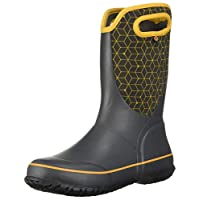 Bogs Unisex Slushie Snow Boot, Web geo Dark Gray Multi, 1 Medium US Little Kid