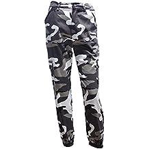 863b98f995 pantaloni militari donna - Grigio - Amazon.it