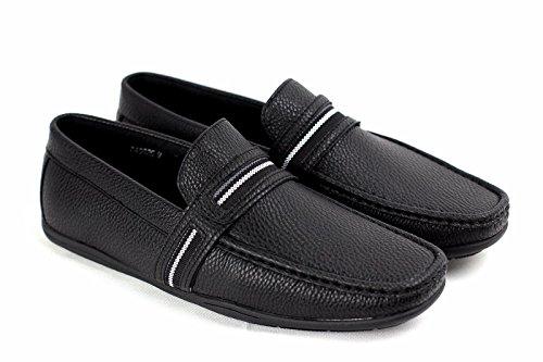 Scarpe Da Barca Da Uomo Senza Stiratura Pantofola Sportivo Sportivo Mocassino Nero