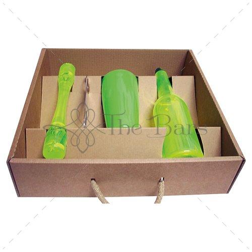 BOX BARMAN-KIT DE BARMAN, BARTENDER BOX FLAIR BASE, BX06, Vert Fluo