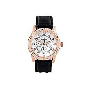Oskar-Emil Classic Watches Reloj para Hombre de con Correa en Cuero Halifax White/Rose Gold