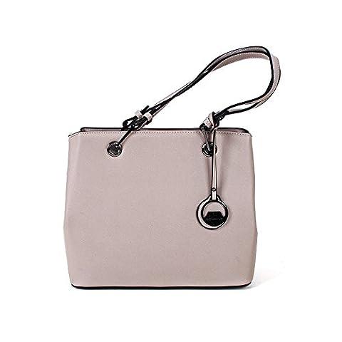 Damen Handtasche Henkeltasche Schultertasche Umhängetasche Tasche farbauswahl (GRAU)