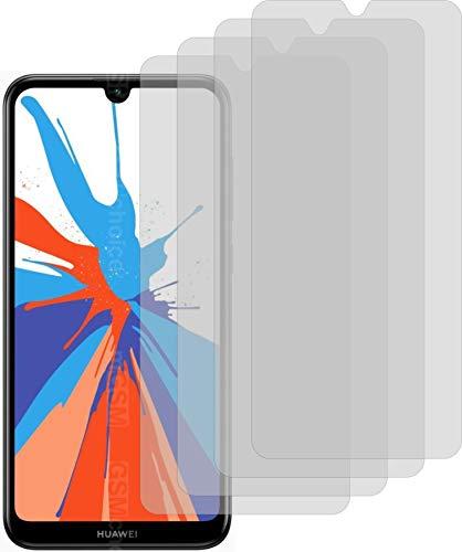 4X Crystal Clear klar Schutzfolie für Huawei Y7 Prime 2019 Displayschutzfolie Bildschirmschutzfolie Schutzhülle Displayschutz Displayfolie Folie